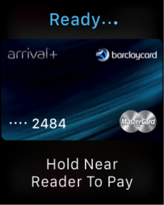 screenshot of an apple watch using apple pay