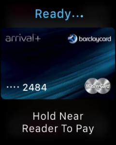 screenshot of an apple watch using apple pay