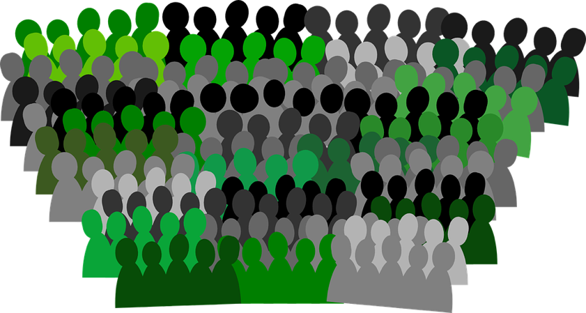 an image of drawings of people in different colors in the key lime interactive color palette