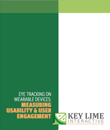 The cover picture of KLI's Eye trackin on Wearable Devices: Measuring Usability & User Engagement White Paper