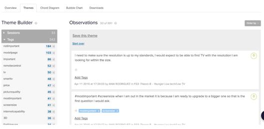 screenshot of a desktop applicaiton for a theme builder for a cognitive walkthrough of your site