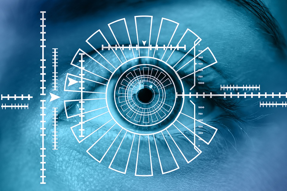 the image of an eye representing biometric studies and what to be on the look out for