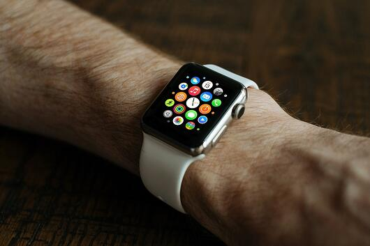 an apple watch on someone's wrist highligting how smart technology has made it to our watches.
