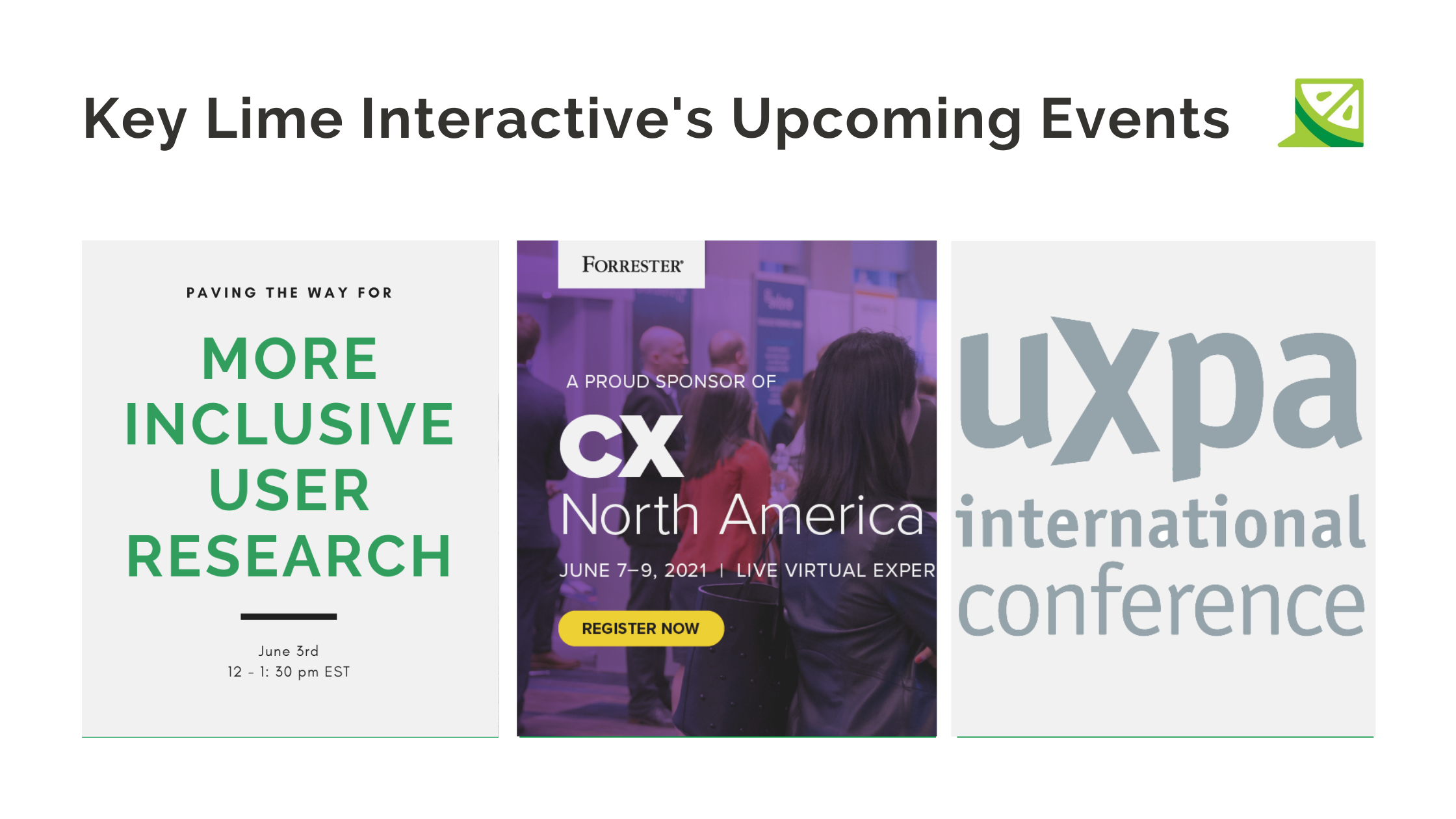2021 CX and UX Events