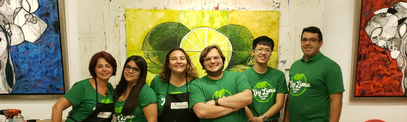 Photo of a the Key Lime Team in Miami, Florida