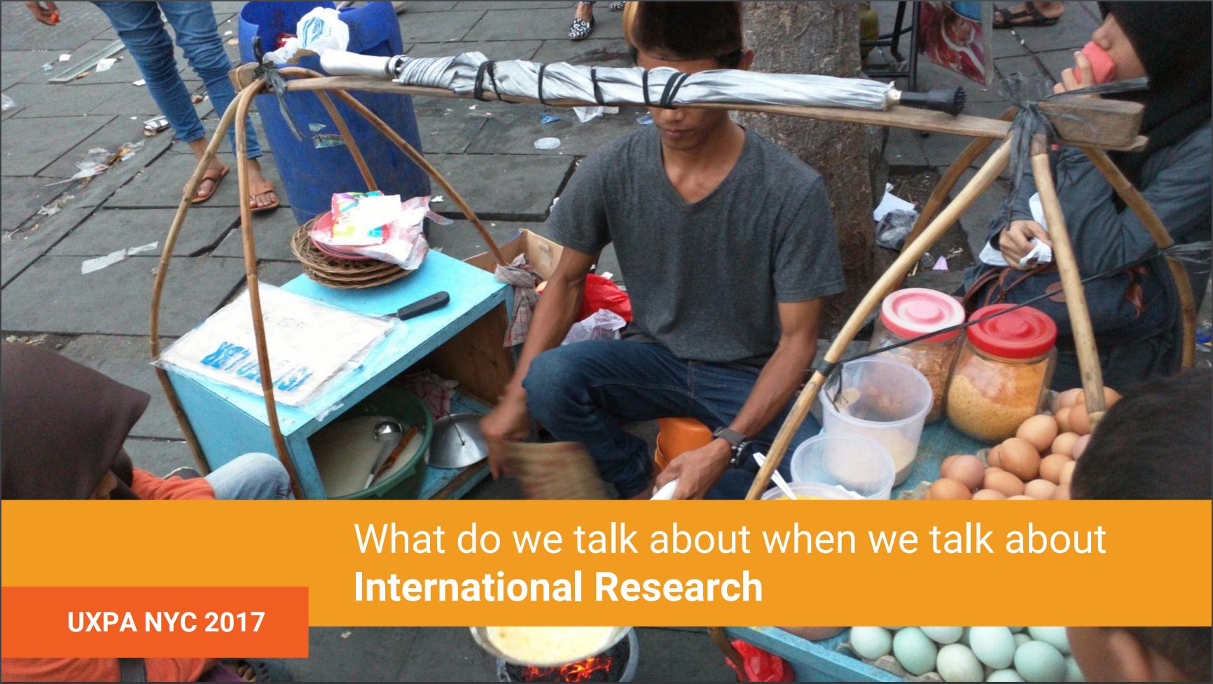International UX Research